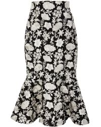 Alexis - Reece Skirt Floral Ivory - Lyst