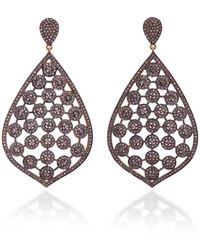 Sanjay Kasliwal - 14k Gold, Silver And Pavé Diamond Earrings - Lyst