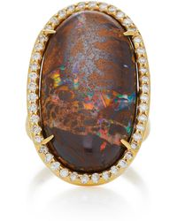 Kimberly Mcdonald - 18k Gold, Yawah Opal And Diamond Ring - Lyst