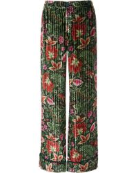 F.R.S For Restless Sleepers - Etere Floral Silk Straight-leg Pant - Lyst