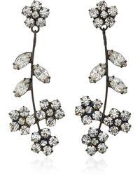 Jennifer Behr - Violet Gunmetal-plated Swarovski Crystal Earrings - Lyst