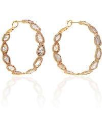 Nina Runsdorf - M'o Exclusive: One-of-a-kind Slice Diamond Hoop Earrings - Lyst