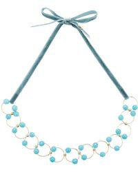 Rosantica   Universo Blue Quartz Necklace   Lyst