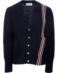 Thom Browne - Classic Jersey V-neck Cardigan - Lyst