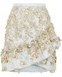 Razan Alazzouni - Embellished Jacquard Wrap Skirt - Lyst