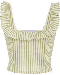 Luisa Beccaria - Striped Sleeveless Top - Lyst