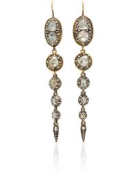Renee Lewis - 18k Gold And Diamond Waterfall Drop Earrings - Lyst