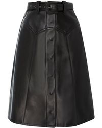 Maison Margiela - Rodeo Belted Leather Midi Skirt - Lyst