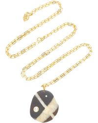 CVC Stones - Locus 18k Gold, Beach Stone And Diamond Necklace - Lyst