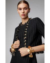 Oscar de la Renta - Cropped Tweed Fringe Jacket - Lyst