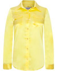 Adriana Iglesias - Emile Collared Silk Satin Shirt - Lyst