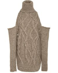 Hensely - Melange Cable Knit Pullover - Lyst