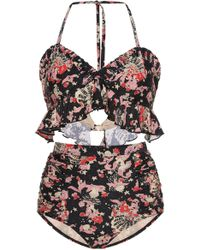 Anna Sui - Mermaids Printed Bikini - Lyst