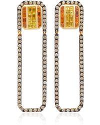 Kavant & Sharart - Convertible 18k Gold, Sapphire And Emerald Earrings - Lyst