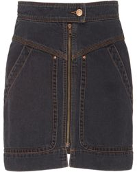 Étoile Isabel Marant - Ioline Denim Mini Skirt - Lyst