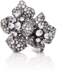 Anabela Chan | 18k Black Gold And Diamond Bloomingdale Ring | Lyst