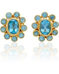 Amrapali - 18k Gold Blue Topaz Earrings - Lyst