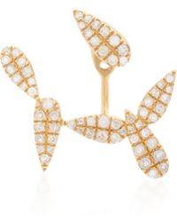 Yvonne Léon | 18k Gold Diamond Single Earring | Lyst