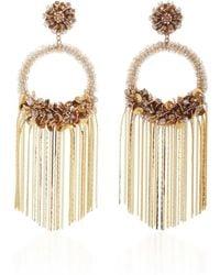 Deepa Gurnani - Circle Fringe Earrings - Lyst