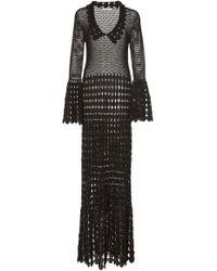 Michael Kors - Crocheted Cotton Maxi Dress - Lyst