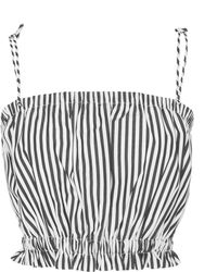 MDS Stripes - Exclusive Cropped Cotton Cami - Lyst