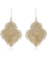 Annette Ferdinandsen - Peacock Feather Clusters 14k Gold Drop Earrings - Lyst