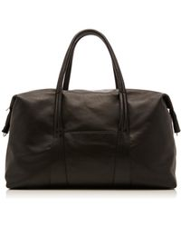 Maison Margiela - Large Leather Duffle Bag - Lyst