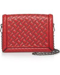 Bottega Veneta - Mini Montebello Microstud Leather Shoulder Bag - Lyst