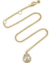 Nayla Arida - Mother Of Pearl Ladybug Pendant Necklace - Lyst