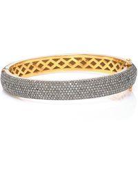 Sanjay Kasliwal - 14k Gold, Silver And Diamond Bracelet - Lyst