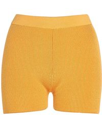 Jacquemus - Arancia Fitted Ribbed-knit Shorts - Lyst