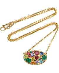 Colette - Oval Rainbow Necklace - Lyst