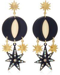 Lulu Frost - Orana Gold-plated, Enamel And Crystal Earrings - Lyst