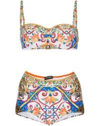 Dolce & Gabbana - Printed Bikini Set - Lyst