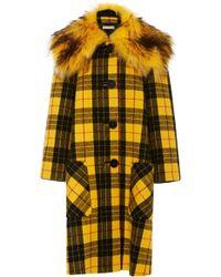 Michael Kors - Coat With Faux Fur Collar - Lyst