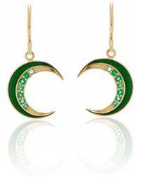 Andrea Fohrman - Crescent Emerald Earrings - Lyst