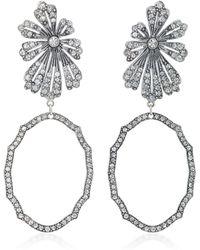 Lulu Frost - Camellia Statement Gold And Silver-plated Brass Earrings - Lyst