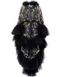 Rodarte - Hand-embroidered Tulle Hooded Cape - Lyst