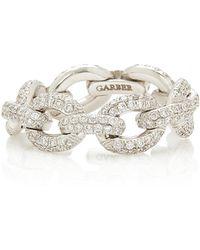 Sidney Garber - Oval Diamond Link Ring - Lyst