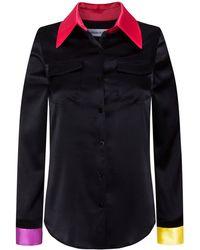 Adriana Iglesias - Emile Colorblock Silk Satin Shirt - Lyst