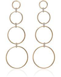 Mateo - Diamond Connecting Circle Drop Earrings - Lyst
