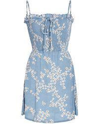 Faithfull The Brand - Marni Smocked Voile Mini Dress - Lyst