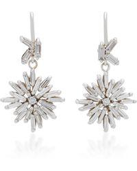Suzanne Kalan - 18k White Gold Diamond Earrings - Lyst