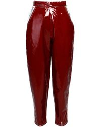 Anouki | Patent-leather Imitation Cropped Pants | Lyst