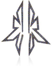 Kavant & Sharart - Silhouette 18k White Gold And Sapphire Earrings - Lyst