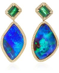 Katherine Jetter - One-of-a-kind Irregular Opal Drop Earrings - Lyst