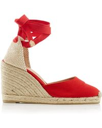 Castaner - Carina Canvas Lace-up Espadrilles - Lyst