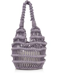 Les Petits Joueurs - Amina Knotted Woven Rope Bag - Lyst
