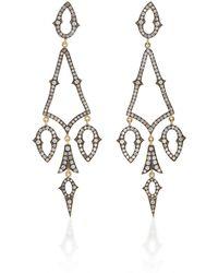 Sylva & Cie - Gypsy 18k Gold And Diamond Earrings - Lyst