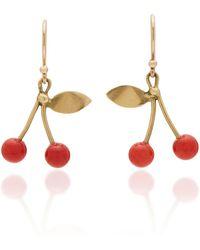 Annette Ferdinandsen - M'o Exclusive: Red Coral Cherry Earrings - Lyst